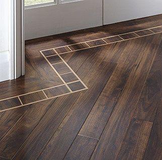 Beveled edge australian walnut planks on 45 degrees with a for Casa moderna black walnut luxury vinyl plank