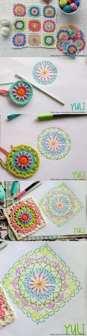 вязание | Como tejer, Mandalas y Ganchillo