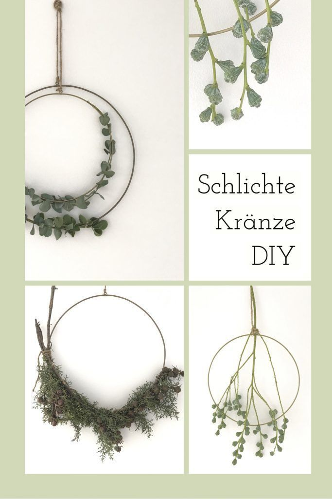 Photo of Simple wreaths tie with brass ring, instructions for making yourself!