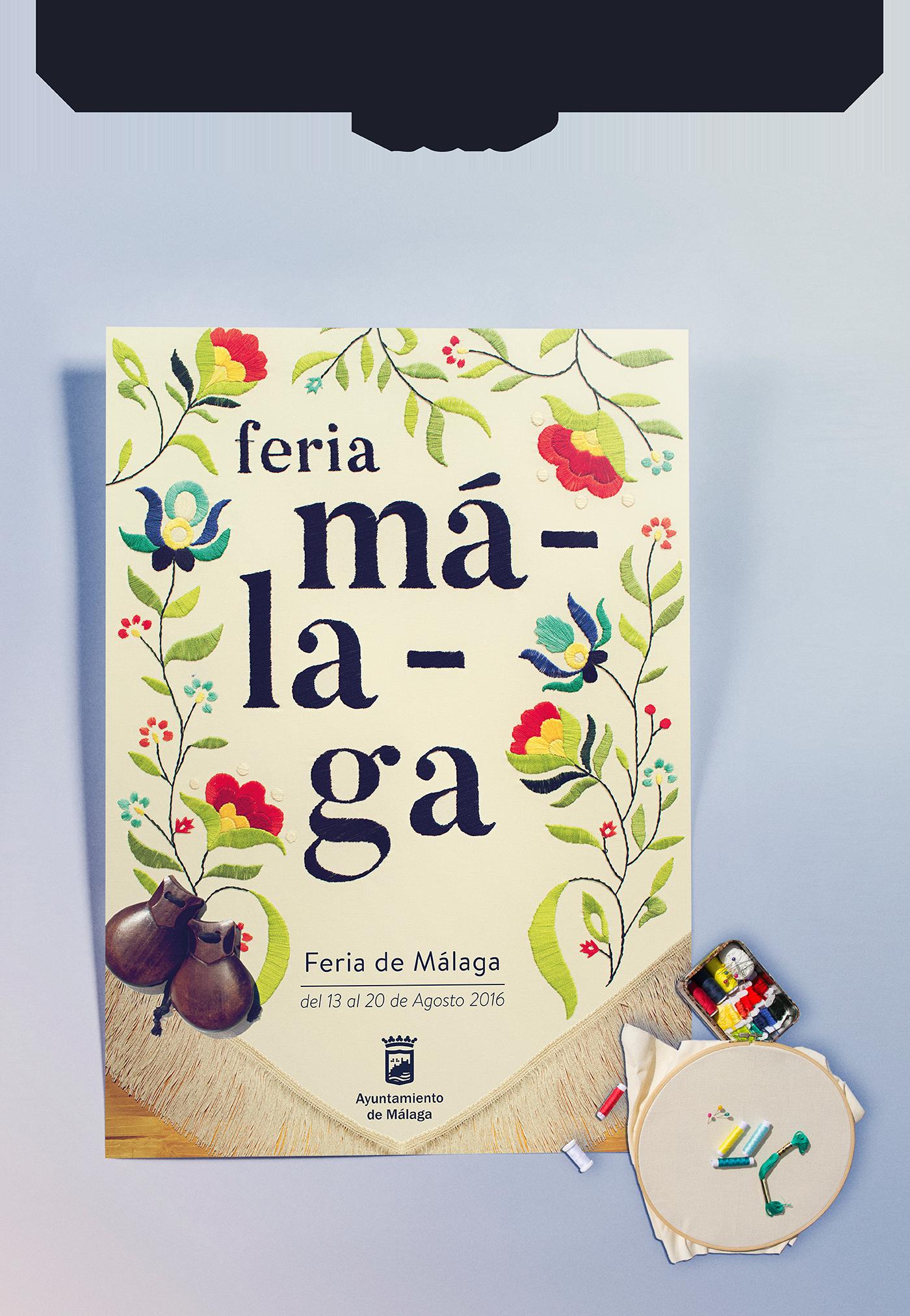 Propuesta para el cartel anunciador de la Feria de Málaga 2016---- Proposal for the poster for the Malaga Festival 2016