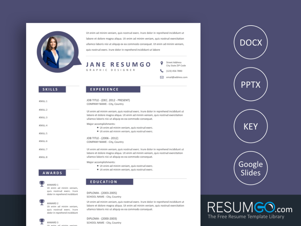 Drakon Tidy Modern Resume Template By Resumgo Com Modern Resume Template Modern Resume Resume Template
