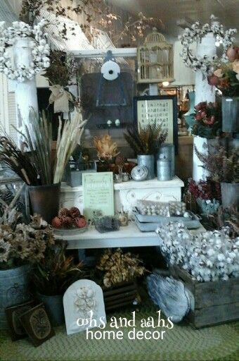 Gathering all the Fall Decor together for Canton First Monday Oohs