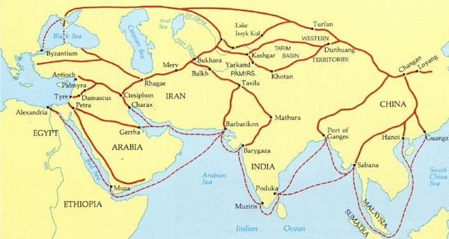 photo regarding Silk Road Map Printable named Map of Exchange Routes utilised upon the Silk Street Lilly Concannon