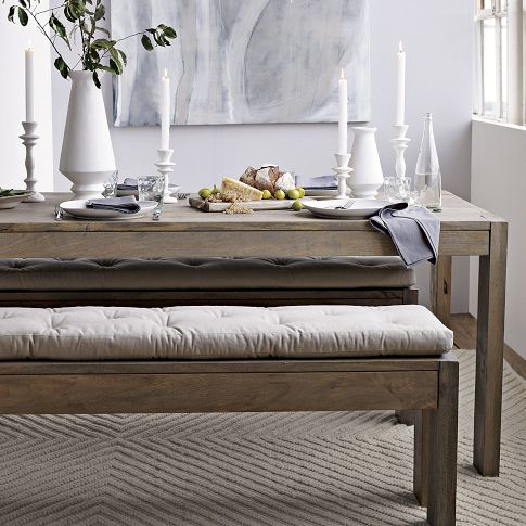 boerum dining bench from west elm. dying for a nice bench for one, Esstisch ideennn