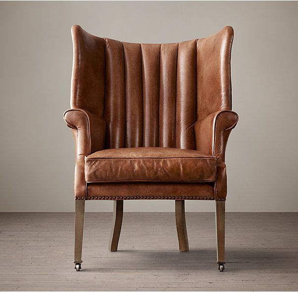 Warwick Leather Wing Chair Leather Wing Chair Leather