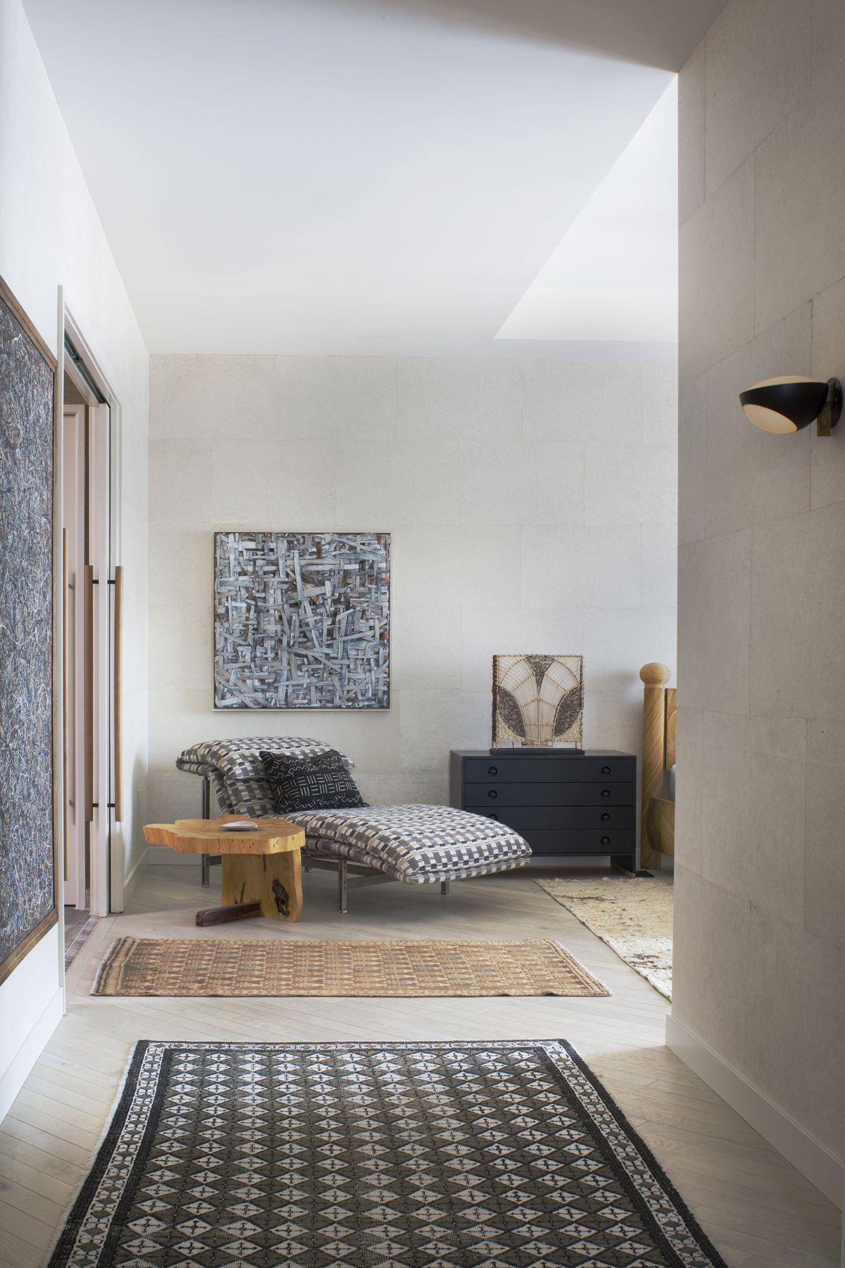 KELLY WEARSTLER | INTERIORS. Master Bedroom entrance, Hollywood Proper Residences Penthouse.
