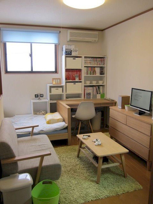 100 Small Studio Apartment Layout Design Ideas Home Design Desain Interior Ide Apartemen Ide Kamar Tidur Kecil