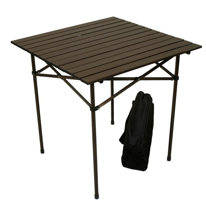 Take Your Table With Your Chairs Brookstone Portable Table