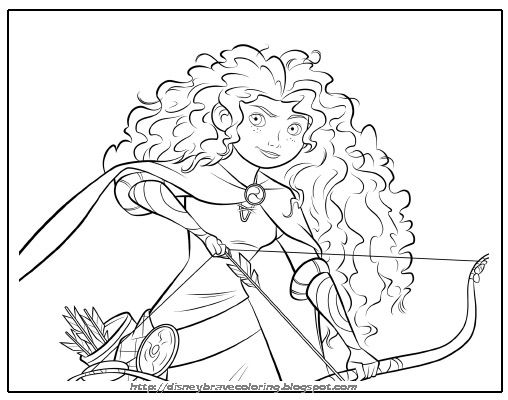 free printable merida coloring pages merida activity sheets and brave party invitations featuring merida