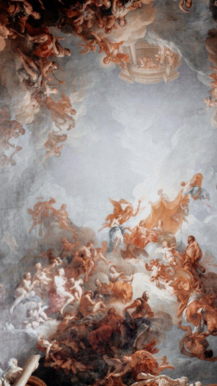 Aesthetic Wallpaper Angel Get Wallpaper Hd In 2020 Painting Wallpaper Renaissance Art Aesthetic Painting