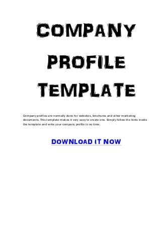 Company Profile Template With Images Company Profile Template