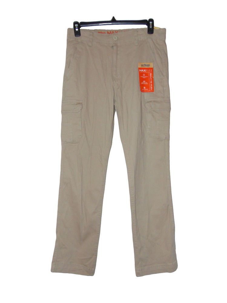 48fb94114bc Mens Cargo Pants Size 32 X 34 Brown Nwt Urban Pipeline Maxflex Relaxed  #UrbanPipeline #Cargo