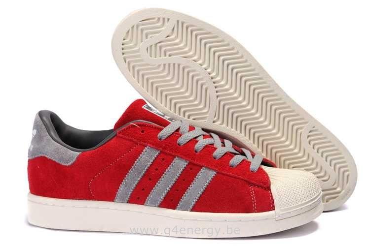a50e4ae7daf Femmes Adidas Superstar II éDition LimitéE Gris Rouge