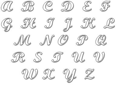 Letras 2 Moldes De Letras Letras Para Mural Letra Cursiva