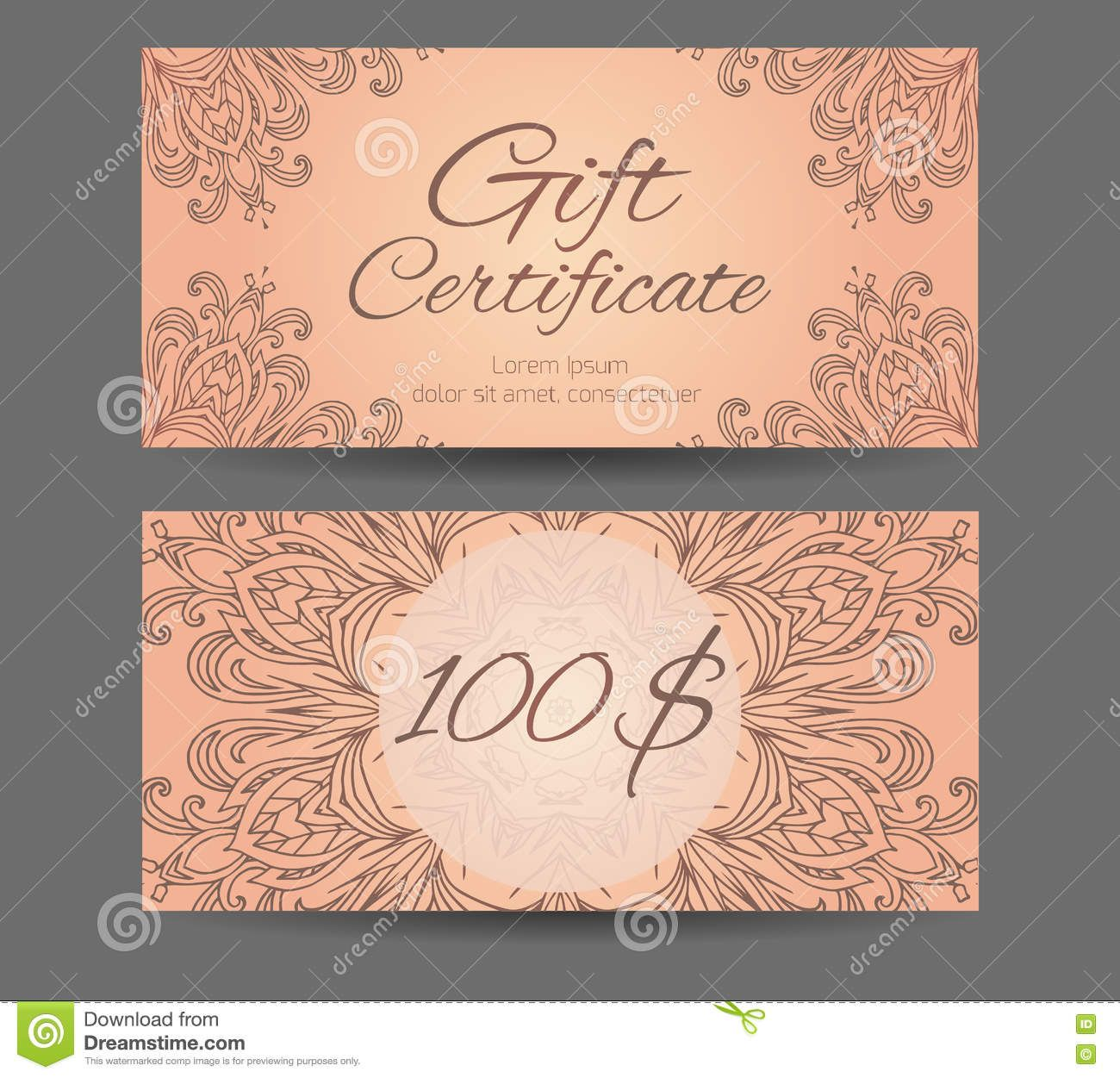Template Gift Certificate For Yoga Studio Spa Center With Regard To Yoga Gift Cert Gift Certificate Template Certificate Templates Certificate Design Template Yoga gift certificate template free