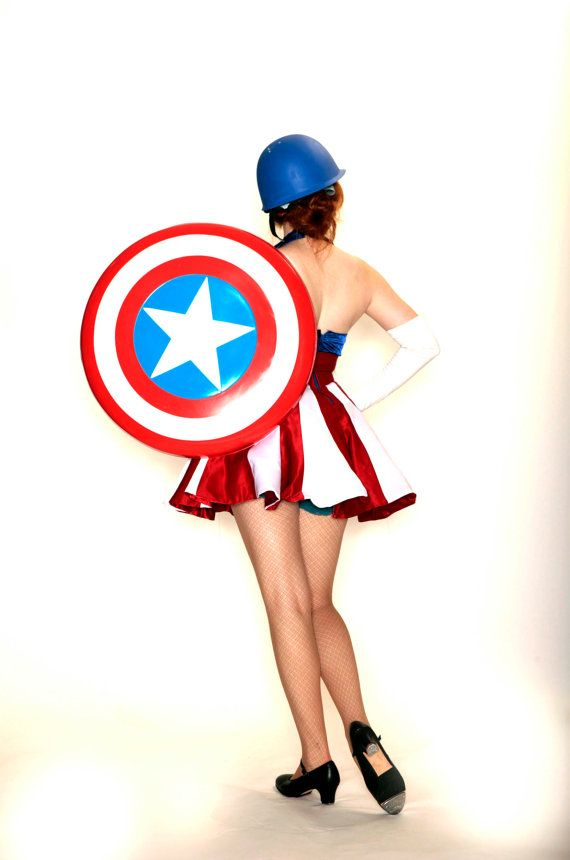 Custom size captain america uso girl costume by aeriat on etsy if i had the money to - Captain america fille ...