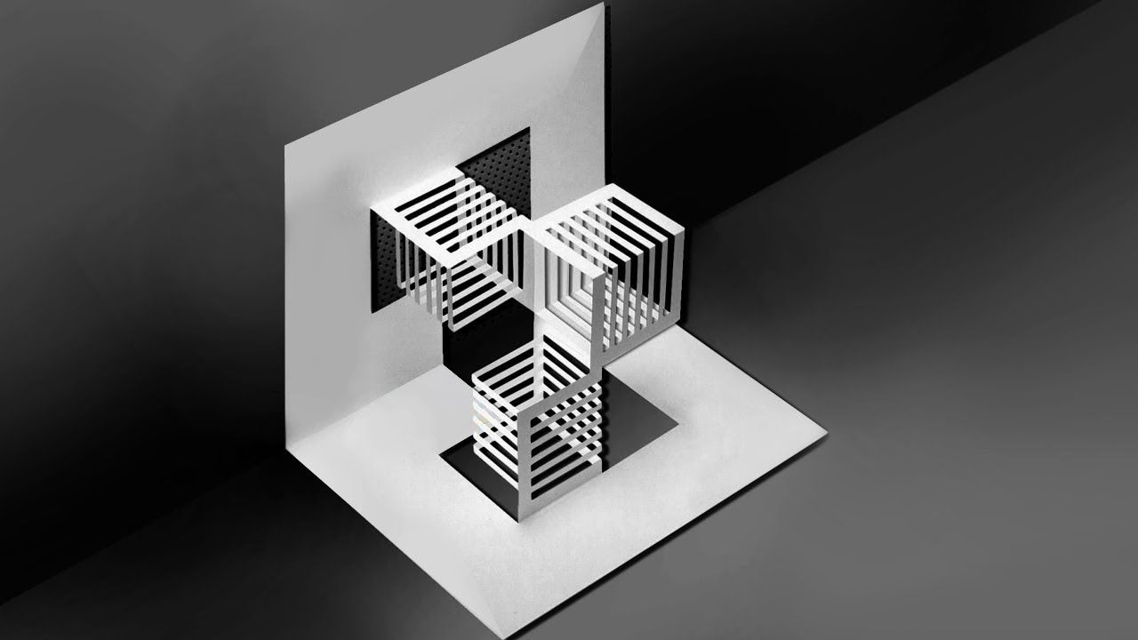 Kirigami Paper Art Pop Up Card Easy Tutorial Paper Art