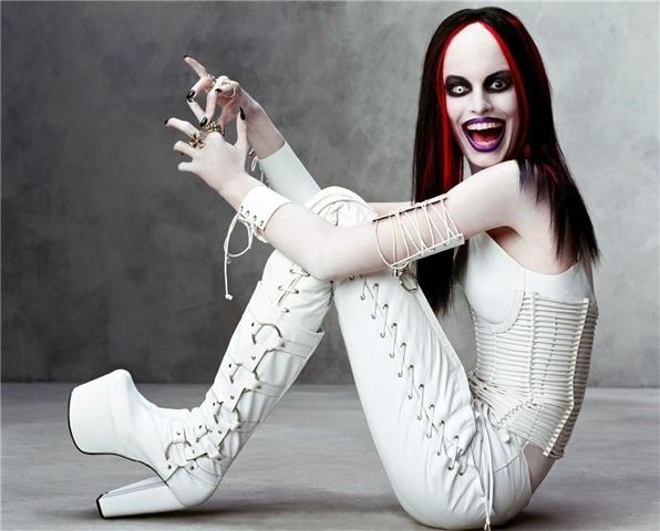Karolina Kurkova As Marilyn Manson Hah I Have This From The Magazine It Came Out Of