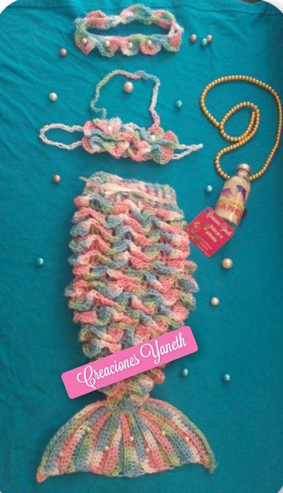 Capullo cola de sirena 100% tejida a mano crochet | Ángeles ...