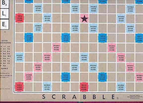 It is a photo of Printable Scrabble Board Template in high resolution