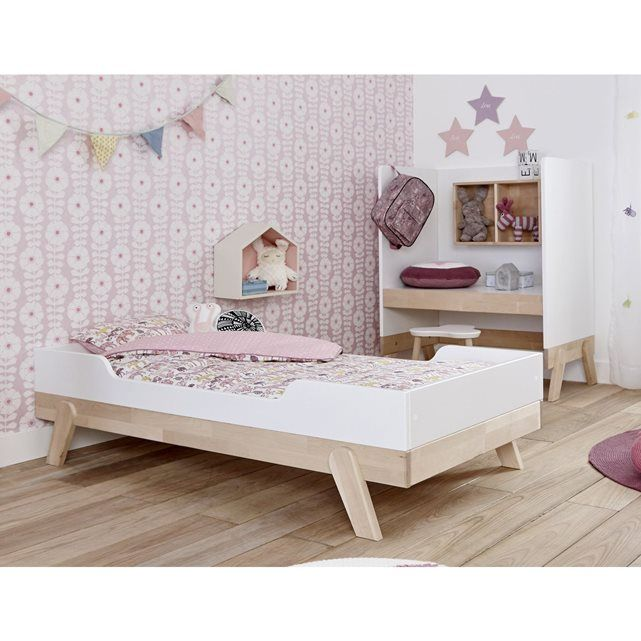 lit enfant 70x140 bouleau blanc malo deco pr l 39 asticot pinterest lit enfant lit enfant. Black Bedroom Furniture Sets. Home Design Ideas
