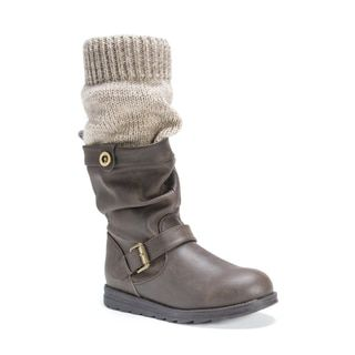 799b2a00a55e Shop for Muk Luks Women s Dalis Brown Polyester Polyurethane Faux Leather  Boots- 54.99-Overstock.com