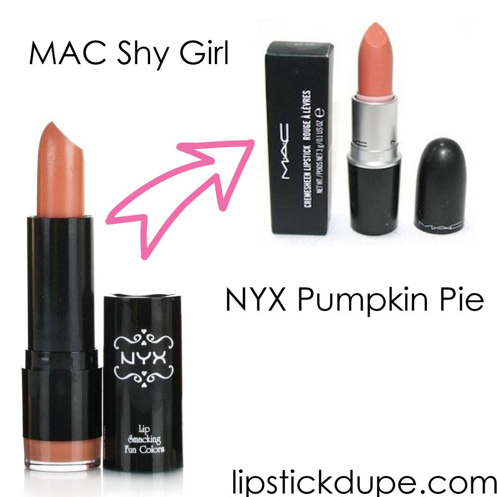 NYX Pumpkin Pie dupe MAC Shy Girl | Dupes | Pinterest ...