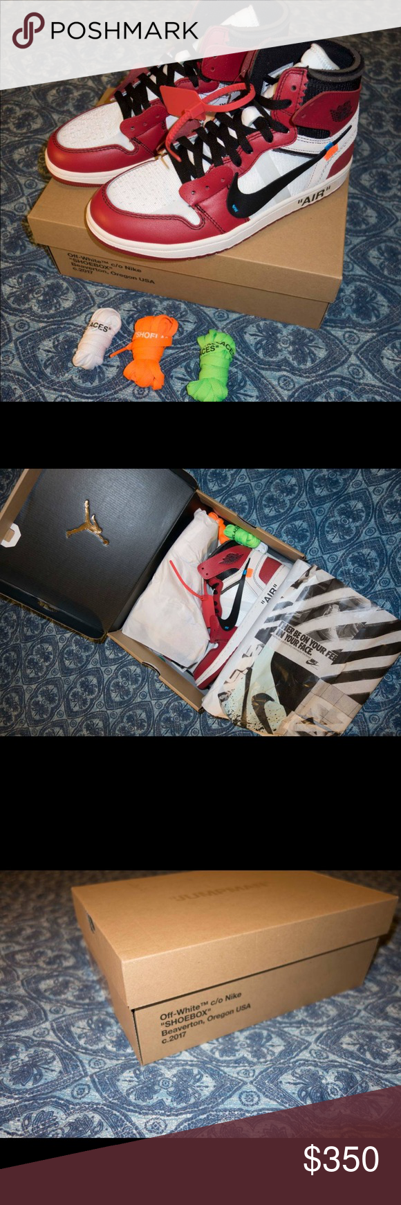 d8d21185f2be9f Off White Air Jordan 1 These pairs are the best UA pairs out. Unauthorized.  Can get up to size 13! Let me know asap. If interested leave your number to  ...