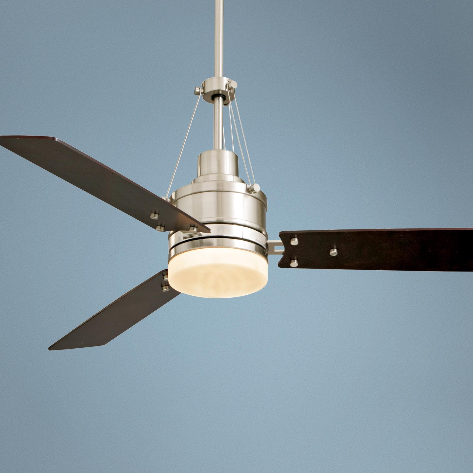 54 Highpointe Brushed Steel Finish Ceiling Fan Ceiling Fan Fan Light Ceiling Fan With Light