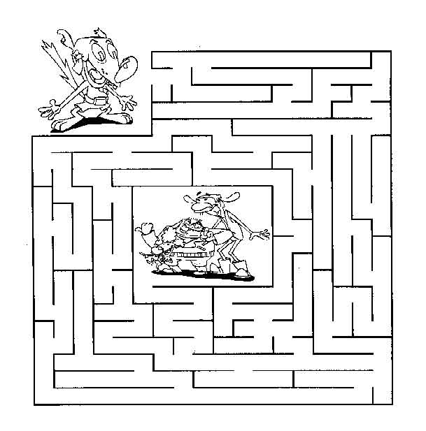 Coloring Pages of Printable Maze Game early childhood education