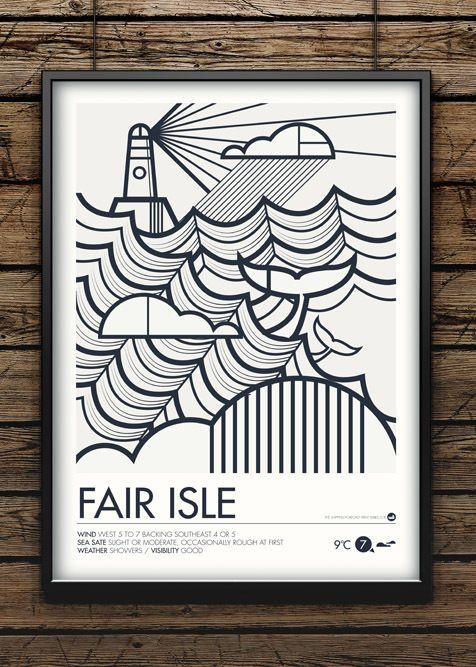 Shipping Forecast Prints - Fair Isle   Prints, Mandala art and ...