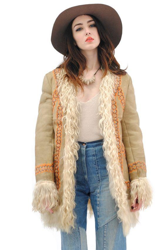 Hippie Mongolian Ropa Wanderlust Shearling Coat S1nFUCW