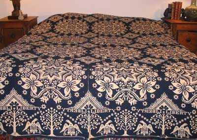 I have wanted one of these coverlets for years! Calling a contact tomorrow! Maybe she will take laway! LOL