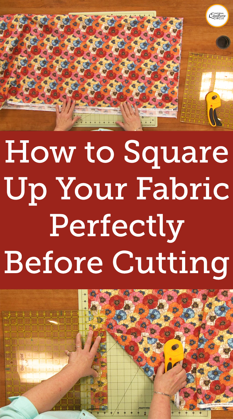Perfectly Square Up Fabric Before Cutting