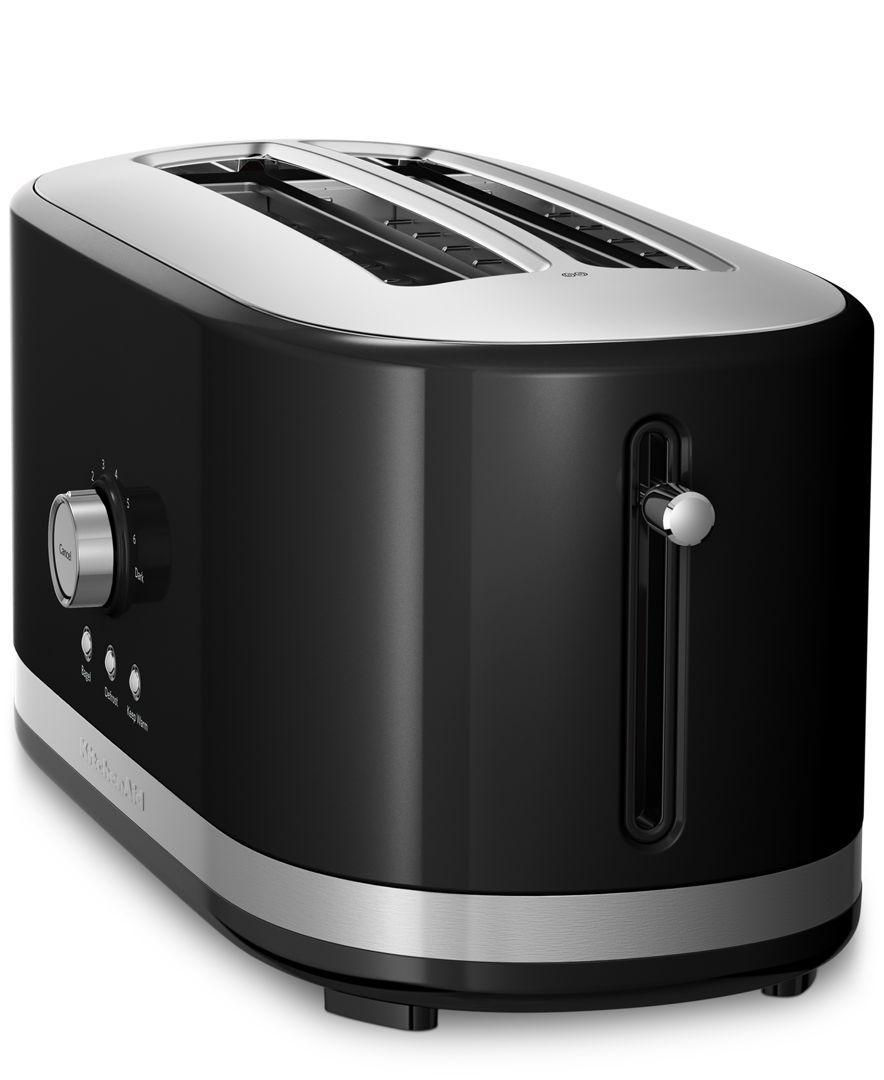 Kitchenaid Kmt4116 Architect 4 Slice Long Slot Toaster Electrics Kitchen Macy S Long Slot Toaster Kitchen Aid Toaster