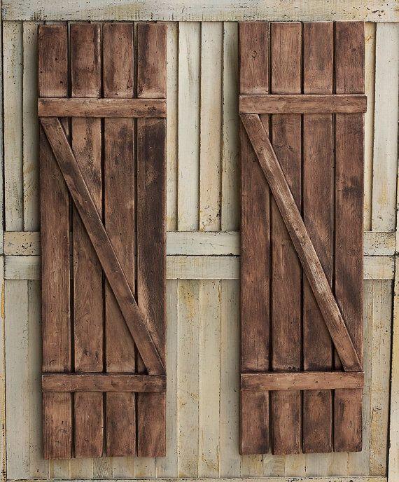 Best 25+ Rustic shutters ideas on Pinterest | Wood shutters ...
