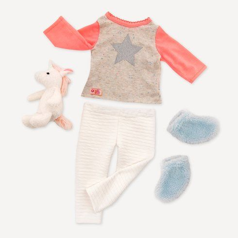 Doll Clothes Outfits Pajamas For inch Baby Girl Doll Toy Our Generation
