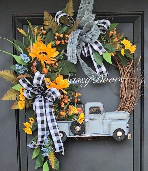 Photo of 40+ Want to learn more about Sunflower Wreath Summer – pecansthomedecor.com