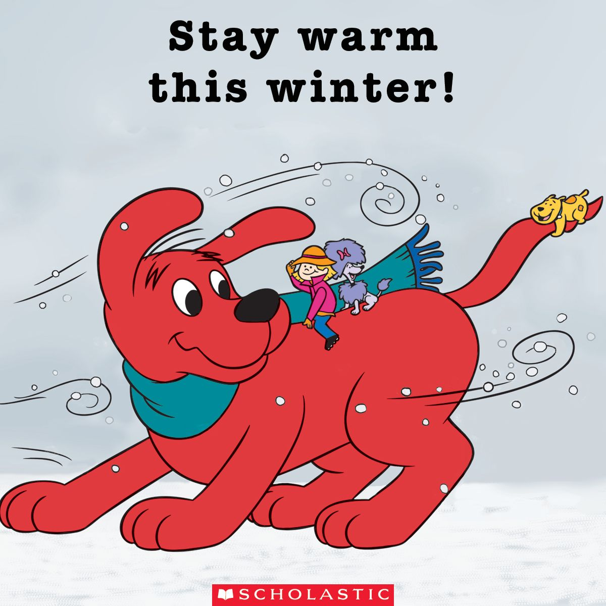 This Big Red Dog Wishes You A Warm Cozy Winter Download