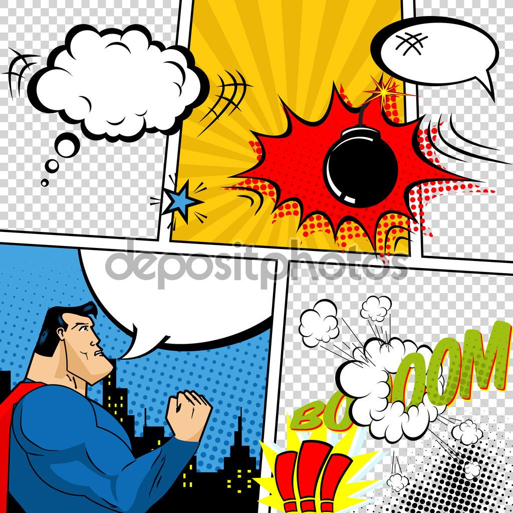 depositphotos_65918409-Vector-Retro-Comic-Book-Speech-Bubbles-Illustration.-Mock-up-of-Comic-Book-Page-with-place-for-Text-Speech-Bubbls-Symbols-Sound-Effects-Colored-Halftone-Background-and-Superhero.jpg (1024×1024)