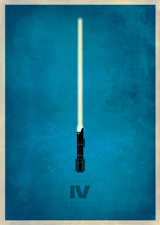 Star wars episode iv a new hope 1977 minimal movie for Quadri minimal