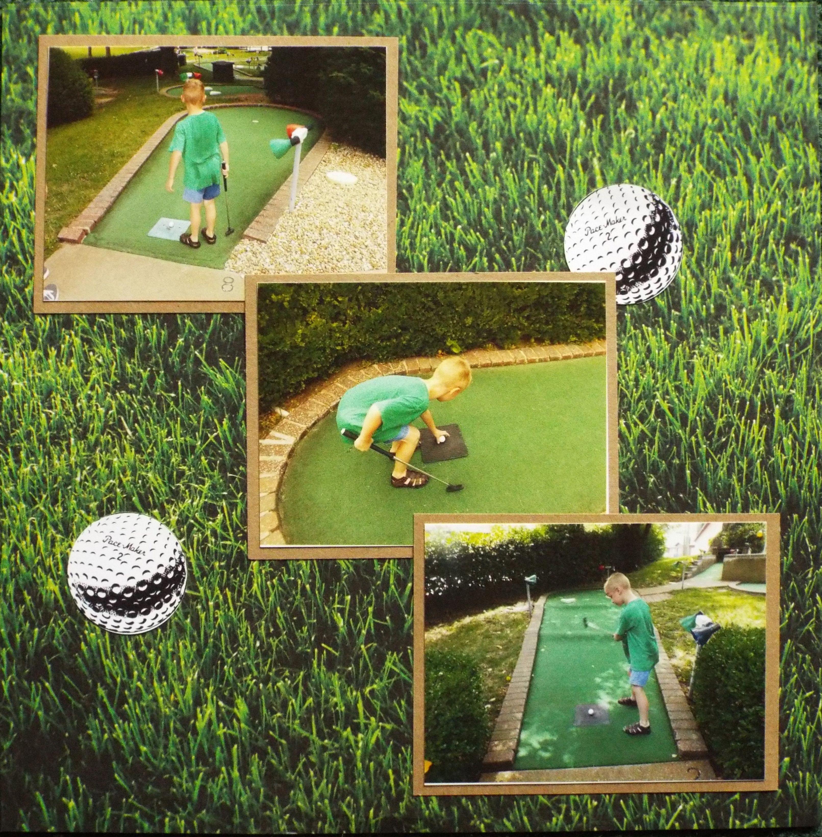 Mini Golfing Pg 2  Scrapbookcom minigolfnearme  Golf