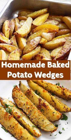 Homemade Baked Potato Wedges
