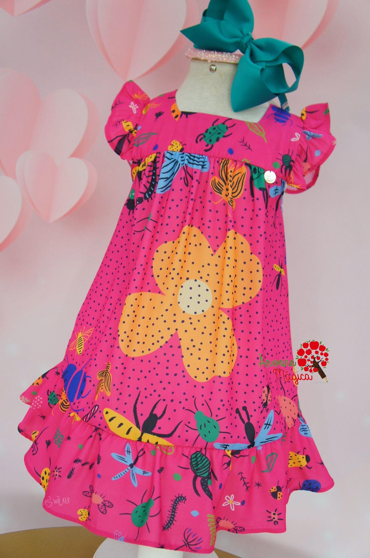 ccac21ffe Vestido Infantil Pink Bugs Mon Sucré | chiquimoda | Modelo de ...