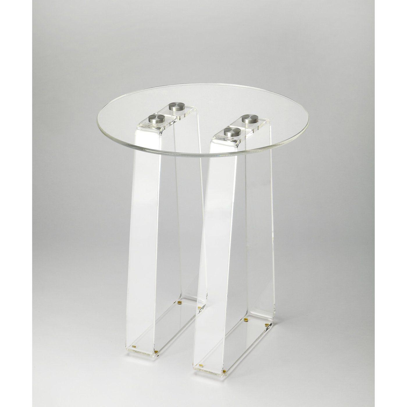 Butler blanca clear acrylic side table butler butler