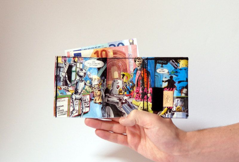 DR.WHO wallet comic upcycling unique piece from PauwPauw on Etsy