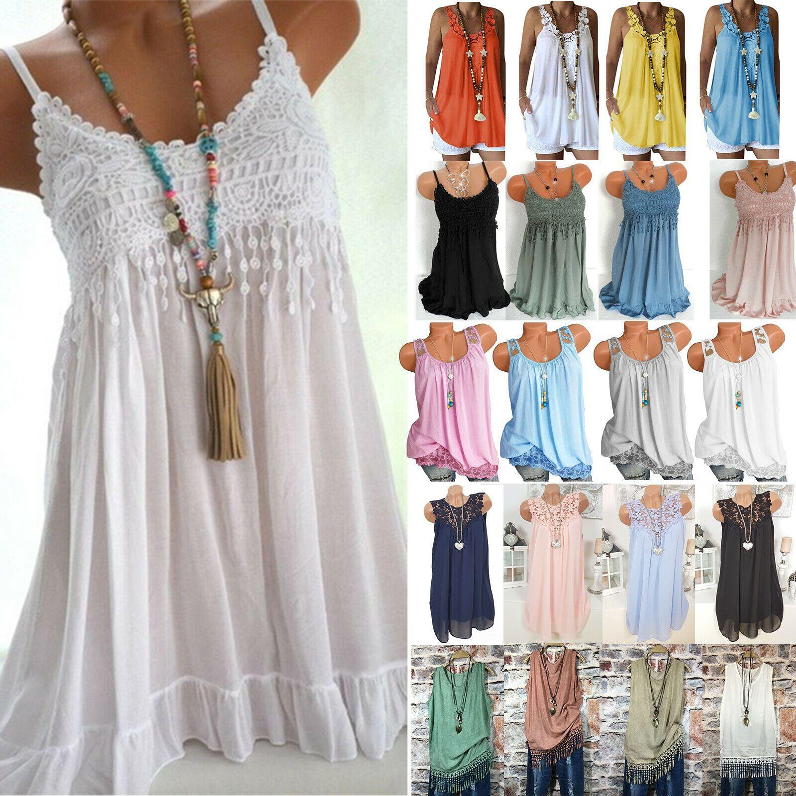 Womens Summer Tank Top Lace Loose Tunic Beach Bikini Cover Up Kaftan Mini Dress White Dresses Long Summer Dresses Maxi Ladies Mini Dresses Maxi Dress Evening [ 1600 x 1600 Pixel ]