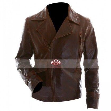 Captain America Steve Rogers Brown Motorcycle Jacket