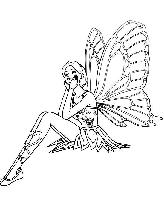 Exotic Fairy Coloring Pages Fairy Sitting Relaxed Coloring For - copy coloring pages barbie mariposa
