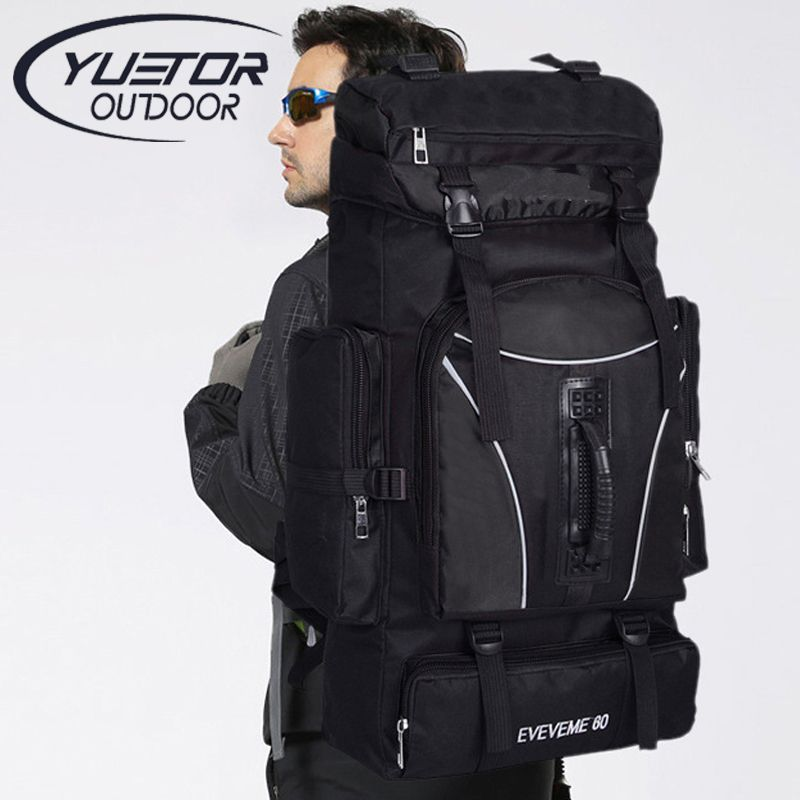 YUETOR 60L Outdoor Backpack Unisex Travel Multi-purpose Climbing Backpacks  Hiking Big Capacity Rucksacks Camping Sports Bags   Price   51.30   FREE  Shipping ... dd5292646a